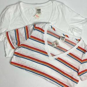 PINK Victoria's Secret short sleeve shirts